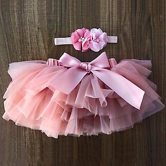 Baby Girl Tutu Skirt Tulle Lace Bloomers Diaper Cover Set