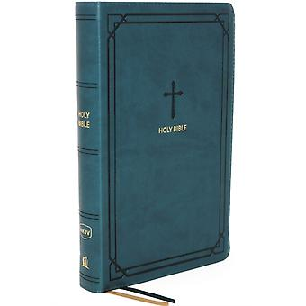 NKJV EndofVerse Reference Bible Compact Leathersoft Teal Red Letter Comfort Print by Nelson & Thomas