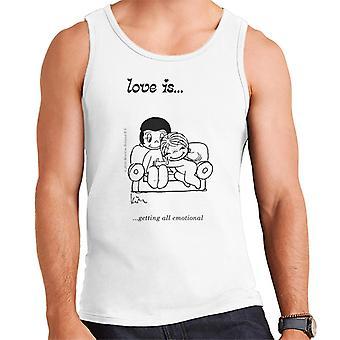 Love Is Getting All Emotional Men's Vest