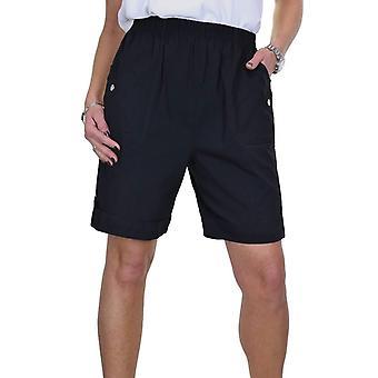 Frauen's bequem elastische Taille Shorts Damen Casual Stretch hohe Taille kurze Größe 8