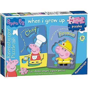 Ravensburger Mijn eerste puzzels, Peppa Pig 6x 2pc Legpuzzels