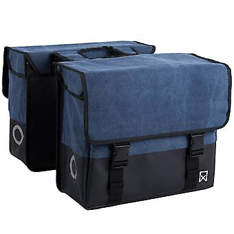 Willex bicycle double bag fabric 40 L blue and matte black 15113