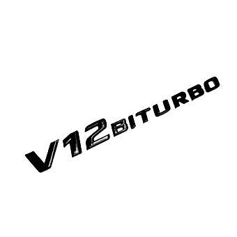光沢の黒のメルセデス ベンツ V12 ビトゥルボ側翼バッジ CL G ワゴン S の SL AMG