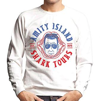 Jaws Amity Island Shark Tours Est 1975 Men's Sweatshirt