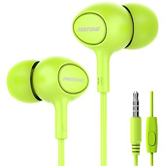 Miatone Earphones with Microphone - 3.5mm AUX Earphones Wired Earphones Earphone Green