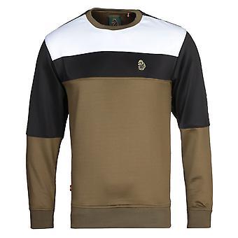 Luke 1977 Loki Colour Block Khaki Sweatshirt