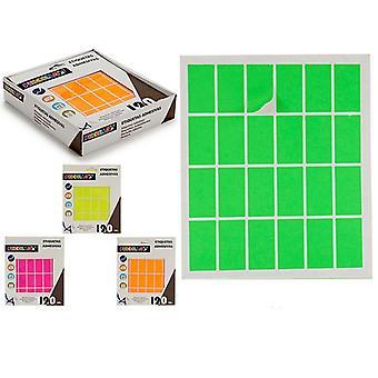 Étiquettes Auto-adhésifs Rectangulaires (20 x 37 mm) (120 uds)