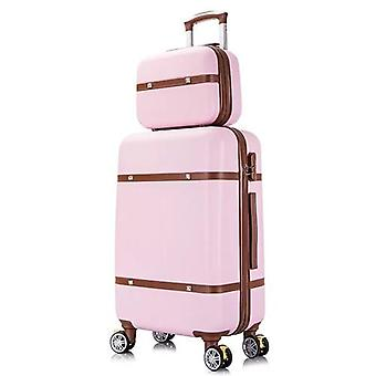 Cosmetic Bag / Students  Rolling Luggage Spinner  Trolley Case Travel Suitcase