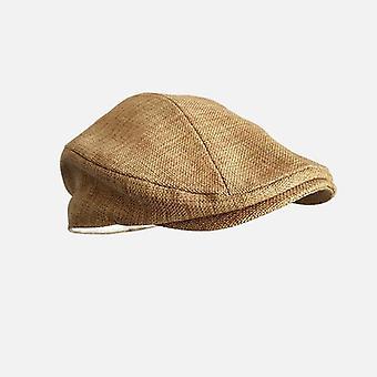 Baretti korkit ulkona aurinko hengittävät litteät hatut naisten miesten hatut vintage gatsby