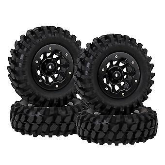 4pcs 10 Găuri Roată Rim w / Beadlock Black & RC1:10 Rock Crawler Pietriș cauciuc anvelope