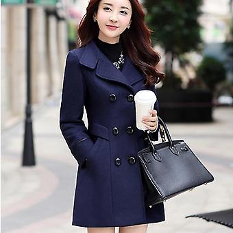 Neue Doppel-Brust Wolle Mantel Mantel Herbst schlanke Wolle Outerwear Kleidung