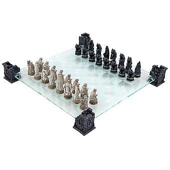 مصاص دماء & مستذئب الزجاج الشطرنج مجموعة