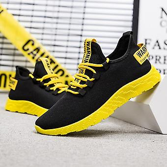 Casual Shoes Sneakers Mens Breathable No-slip Male Air Mesh Lace Up