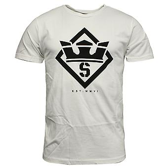 Supra Stencil Mens T Shirt Short Sleeved Top Casual White 101864 100 RW96