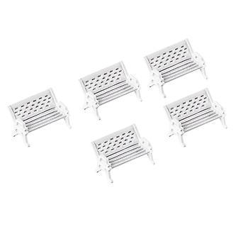 5pcs Dollhouse Park Chair Mini Model Chair DIY Decoration Park Chair