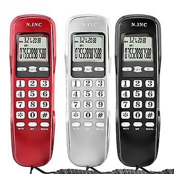 Mini Phone Wall Telephone For Home Office Hotel Lcd Display Wired Landline