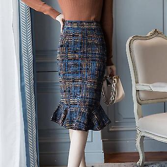 Saias femininas estampadas, saia sereia casual elegante