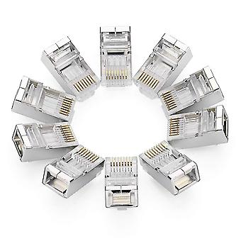Conector Ugreen cat6, conector de red Ethernet Cat6 de 10 piezas, conector de crimpado blindado rj45 8p8c stp ethernet cable de red plu