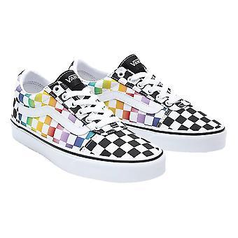 Vans Ward Shoes - Rainbow Check / Black / White