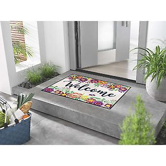 Tapis de pied lavable wash+dry Welcome Blooming 60 x 85 cm