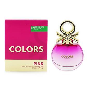 Benetton Colors Pink Eau De Toilette Spray 50ml/1.7oz