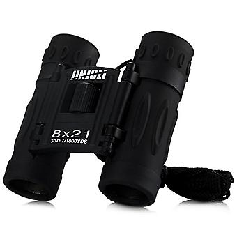 JINJULI 8X21 HD BAK4 Binoculars Mini Portable Outdoor Birdwatching Spotting Telescope