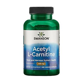 Acetyl L-Carnitine, 500mg 100 vegetable capsules