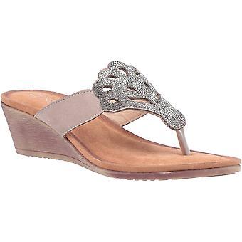 Divaz felicity womens ladies wedge sandals grey UK Size