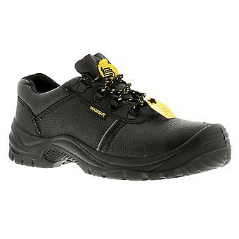 New Mens/Gents/Unisex Black Lace Ups Steel Toe Cap Boots UK Size