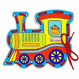 "Alatoys Wooden  Lacing ""The Locomotive"""
