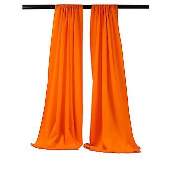 La Leinen Pack-2 Polyester Poplin Hintergrund Drape 96-Zoll breit von 58-Zoll hoch, Orange