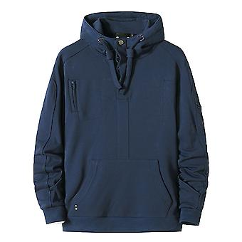 Allthemen Men's Hooded Solid Color Casual Sweatshirt Fashion Pullover Hoodie