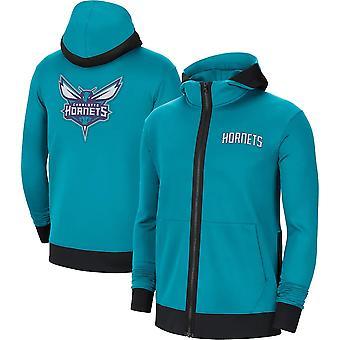 Charlotte Hornets Teal Showtime Performance Full-Zip Hoodie Jacket
