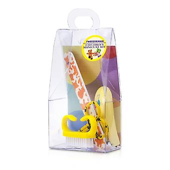 Tweezerman bambini cura Kit: Baby Nail Clipper + Baby Lima per unghie + Nail pennello + Baby chiodo forbici 4pcs