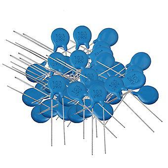 100 pcs Haute Tension 6.5mm Pitch DIP Ceramic Disc Condensators Blue for 2KV Use