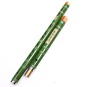 Bamboo Flute Beginner Two Detachable Parts Chinese Flute Copper Bamboo Dizi Single Plug Musical Instrument