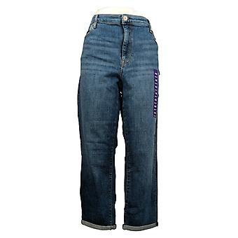 Chaps Women's Jeans Regular Straight Slim Boyfriend Blue