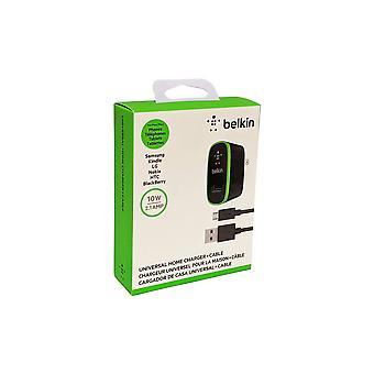 Carregador de Parede Belkin MixItColor 2.1A com cabo Micro USB - Preto