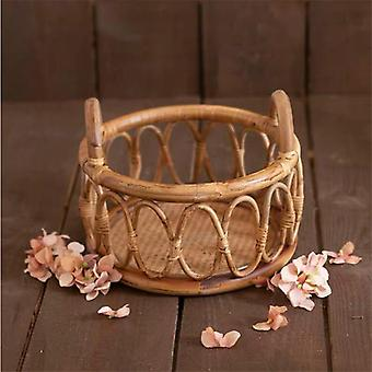 Newborn Photography Props, Round Vine, Woven Basket, Baby Photo Shoot Chair,