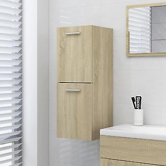 vidaXL Badezimmerschrank Sonoma-Eiche 30x30x80 cm Spanplatte