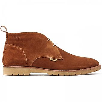 Base London Miller Mens Suede Chukka Boots Brown