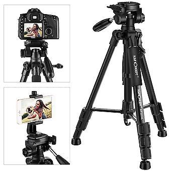 FengChun KF Concept Leichtes Kamera Stativ mit Handyhalterung, 142cm Fotostativ Handy Stativ fr