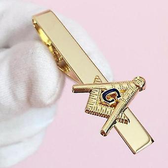 Blue lodge masonic tie clip