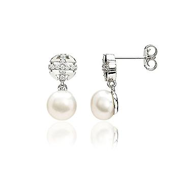 Eye Candy ECJ-ER0041, women's earrings in sterling 925 rhodium silver, with pearls grown in fresh water of 8 mm and 18 Ref. 4045425027436