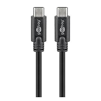 Goobay Usbc Superspeed 3 Gen 1 Usb C 1M Cable Male To Male Black