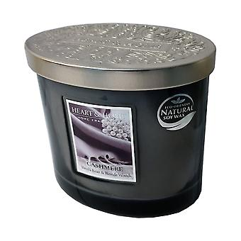 Heart & Home Ellipse Twin Wick Soy Wax Candle - Cashmere 00276260324
