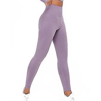 S roxo de cintura alta calças yoga poder leggings alongamento para yogarunning e tipos de fitness x2320