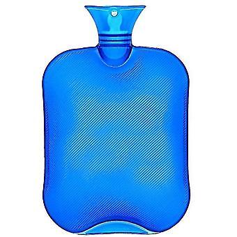 2L kuumavesipullo kivunlievitykseen kuumahoito klassinen läpinäkyvä sininen kuumavesipullo x1552