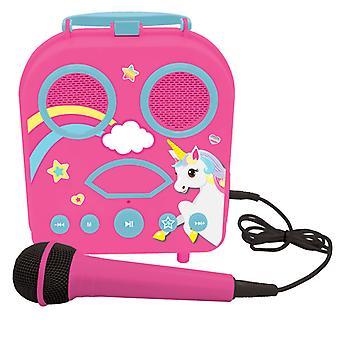 Lexibook BTC050UNI Mon Karaoké Portable Secret avec Microphone - Licorne