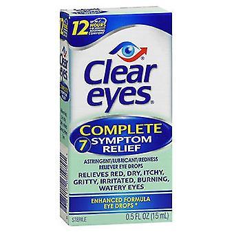 Clear Eyes Clear Eyes Complete 7 Symptom Relief Eye Drops, 0.5 oz
